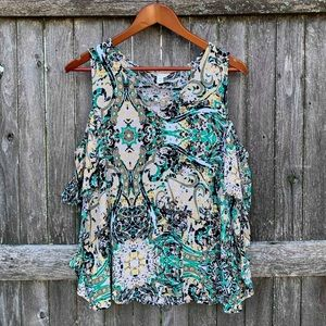 CATO cold shoulder blouse
